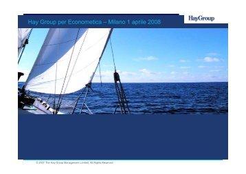 Presentazione Francesco Miggiani - Econometica