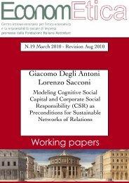 WP 19 March 2010 - Econometica