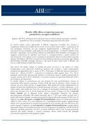 Rapporto ABI 2012 sul mercato del lavoro