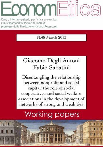 WP 48 March 2013 - Econometica