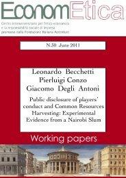 WP 30 - June 2011 - Econometica