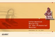 Information Security in the Financial Sector - ISACA Roma