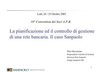 Dr. Piero Boccassino, Responsabile Controllo di Gestione ... - APB