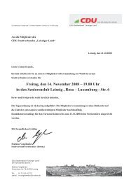 Freitag, den 14. November 2008 – 19.00 Uhr in den ... - CDU Leisnig