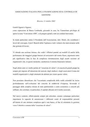 Dr. Gino Trombi, Presidente Banca Lombarda e ... - Benvenuti in APB