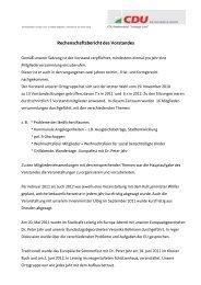 Rechenschaftsbericht des Vorstandes - CDU Leisnig