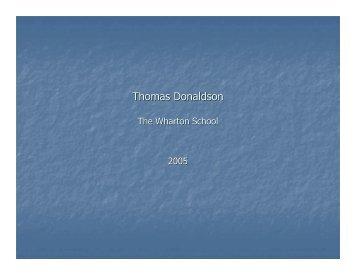 Thomas Donaldson - Econometica