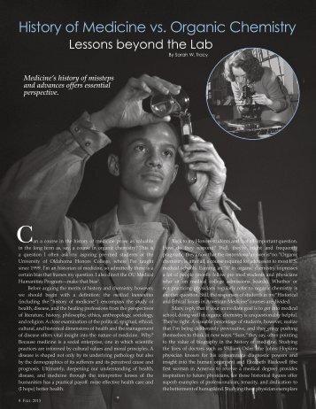 History of Medicine vs. Organic Chemistry - Oklahoma Humanities ...