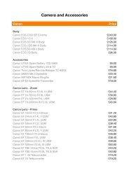 Equipment Hire Price List - Milk Plus Studio