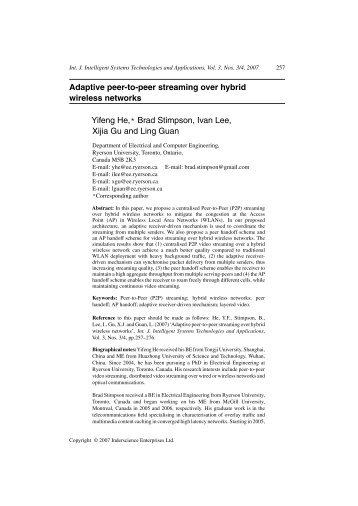Adaptive peer-to-peer streaming over hybrid wireless networks ...