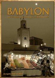 BABYLON • Reisemagazin für Abenteurer und Weltenbummler | Ausgabe 1/2015