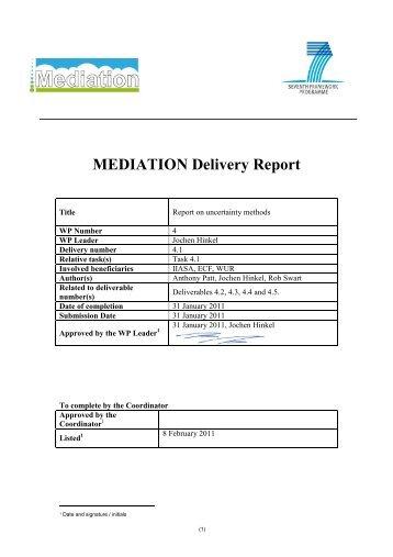 D4.1 Report on uncertainty methods-v2 - Mediation