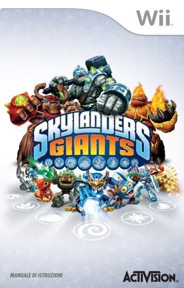 skylanders giants manuale wii