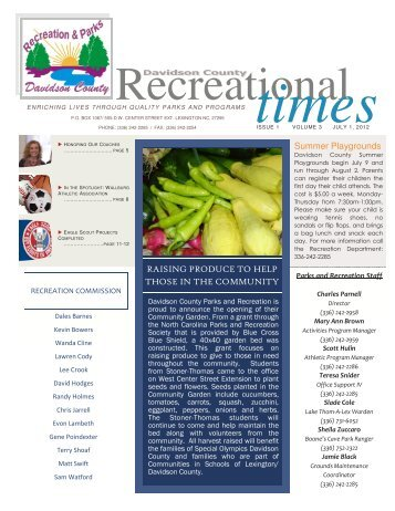 Rec Newsletter July Aug Sept 2012.pub - Davidson County, NC