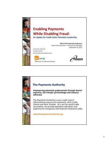 Enabling Payments While Disabling Fraud - Michigan Credit Union ...