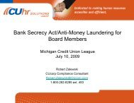 Bank Secrecy Act/Anti-Money Laundering for Board Members