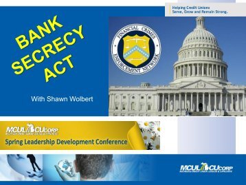 Financial Services - Compliance Training for Bank Secrecy Act - A ...