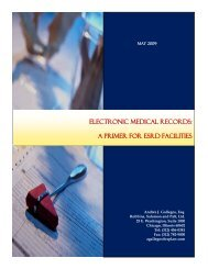electronic medical records: a primer for esrd facilities - Robbins ...