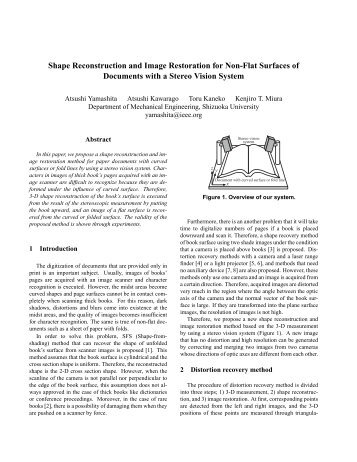 Shape Reconstruction and Image Restoration for Non-Flat Surfaces ...