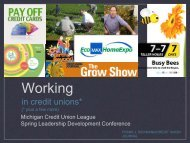 25 Ideas That Are Working - Michigan Credit Union League