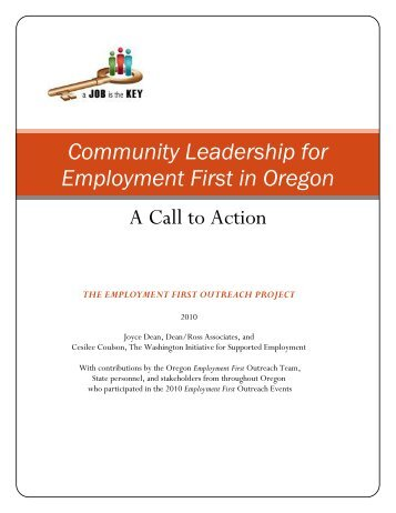Community Leadership for Employment First in Oregon - DHS home