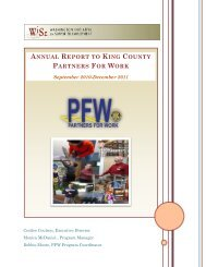 annual report to king county partners for work - Side Street Shop