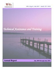 Technical Assistance and Training - Side Street Shop
