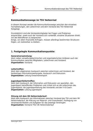 Kommunikationskonzept - TSV Heitenried