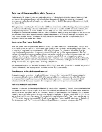 hazardous materials research paper