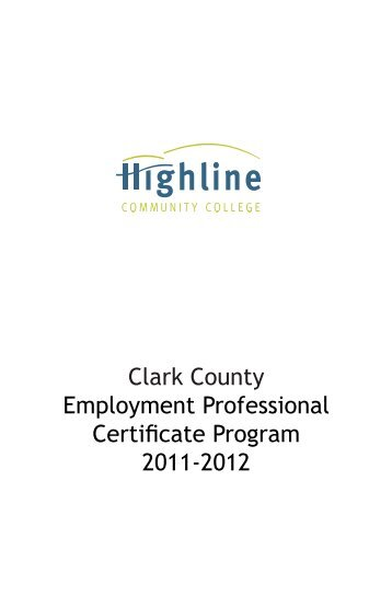 Clark County Employment Professional ... - Side Street Shop
