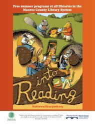 Summer Reading Brochure - Monroe County Library System