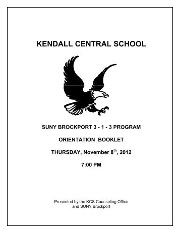 Orientation Booklet - Kendall Central School