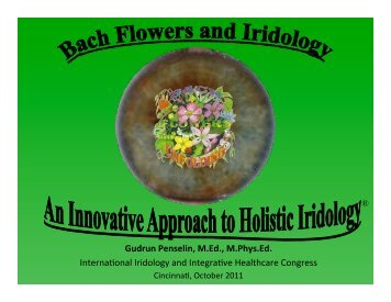 to download Gudrun's presentation: Bach Flowers - Journey to ...