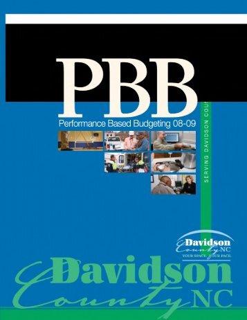 FY2008-2009 PBB Annual Report - Davidson County, NC