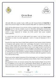 QVISI BAR - Grand Hotel Quisisana