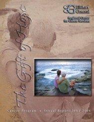 2004 Cancer Annual Report - Elkhart General Hospital