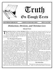 O n Tough Texts - Sola Scriptura Ministries