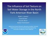 Estimating Basin Drainage Characteristics Using Spatially and ...
