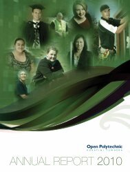 ANNUAL REPORT 2010 - Open Polytechnic
