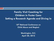 Family Visit Coaching for Children in Foster Care: Setting ... - Pal-Tech