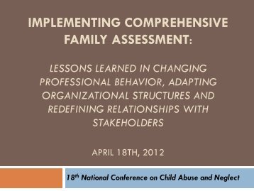 implementing comprehensive family assessment - Pal-Tech