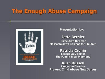 The Enough Abuse Campaign - Pal-Tech