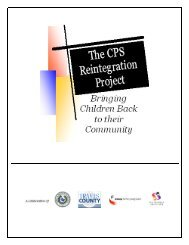 What is the CPS Reintegration Project (CRP)? - Pal-Tech