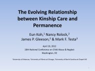 The Evolving Relationship between Kinship Care and ... - Pal-Tech