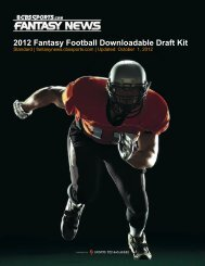 2012 Fantasy Football Downloadable Draft Kit - CBS Sports