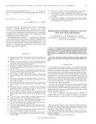 Dynamic behavior of dynamic translinear circuits: the ... - IEEE Xplore