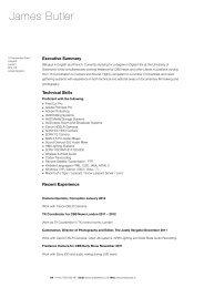James's English CV 2012 - James Butler