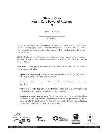 Medical Power Of attorney Missouri