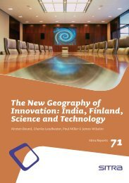 The New Geography of Innovation: India, Finland, Science ... - Sitra