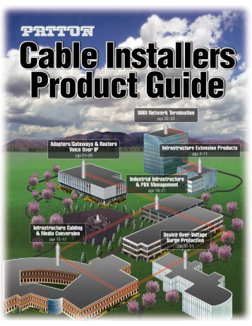 Cable Installers Product Guide - Patton